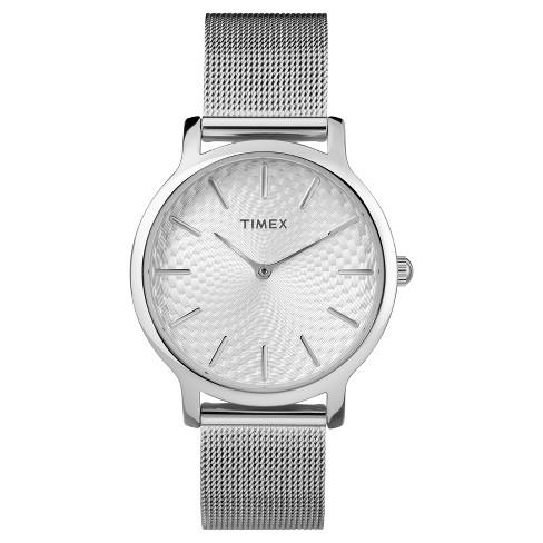 Women S Timex Metropolitan Watch With Mesh Bracelet Silver