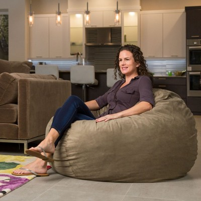 Cordaroys Sage Plush Velour Convertible Bean Bag Chair   Queen : Target