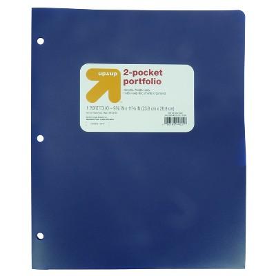 2 Pocket Plastic Folder - up & up™