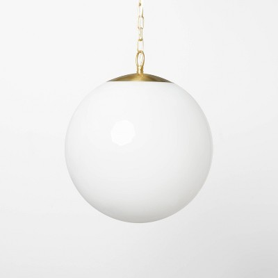Milk Glass Ceiling Pendant Brass - Threshold™ designed with Studio McGee