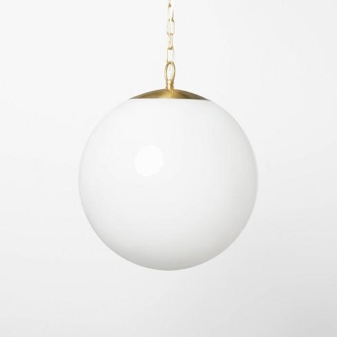 Milk Glass Ceiling Pendant Brass - Threshold™ designed with Studio McGee - image 1 of 4