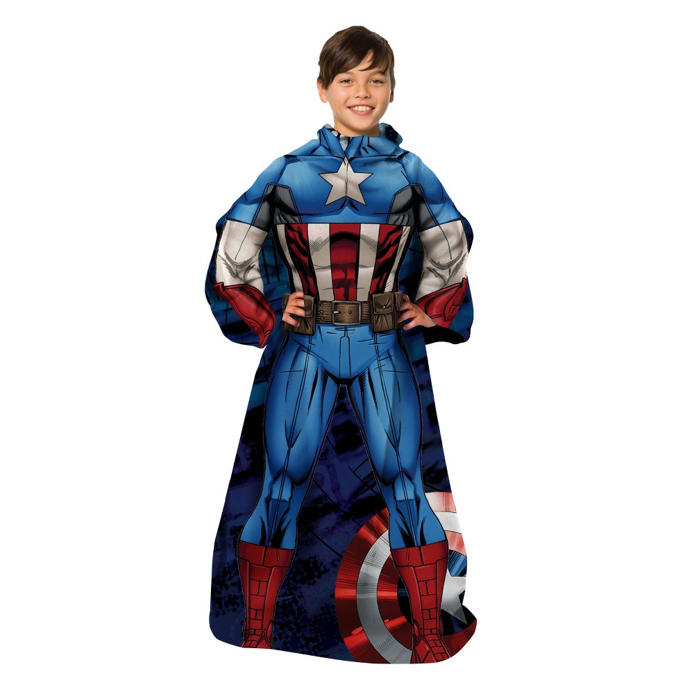 "Image of ""Captain America Comfy Throw Blanket (48""""x48"""")"""