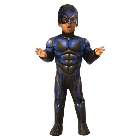 Toddler Boys' Marvel Black Panther Muscle Deluxe Halloween Costume - image 1 of 1