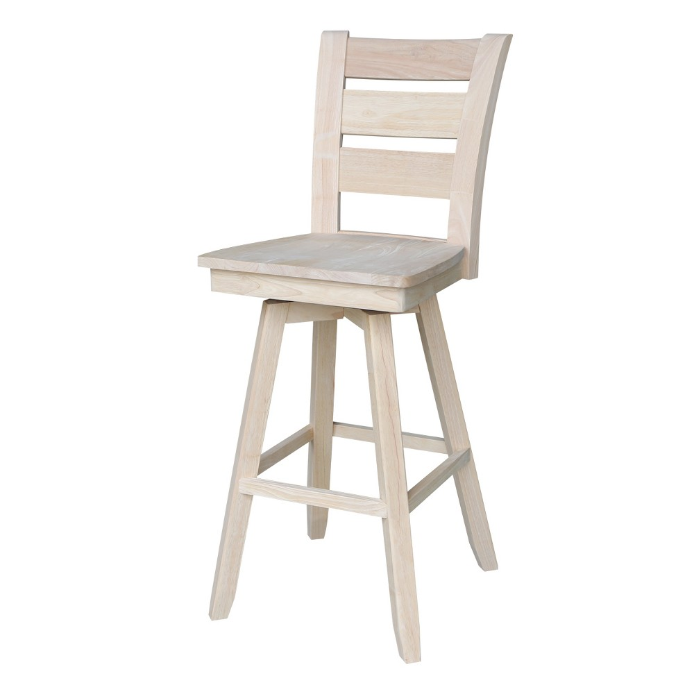30 Tuscany Bar height Stool - Unfinished - International Concepts, Wood
