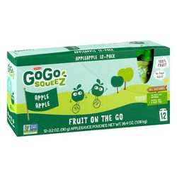 GoGo squeeZ Applesauce, Apple Apple - 3.2oz/12ct