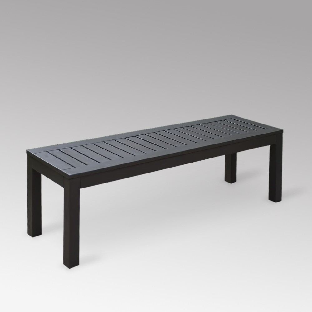 Image of Alfresco Wood Patio Backless Bench - Cambridge Casual, Gray