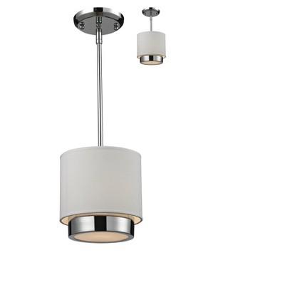 """1-Light 9.2"""" Ceiling Light Mini Pendant Chrome - Z-Lite"""