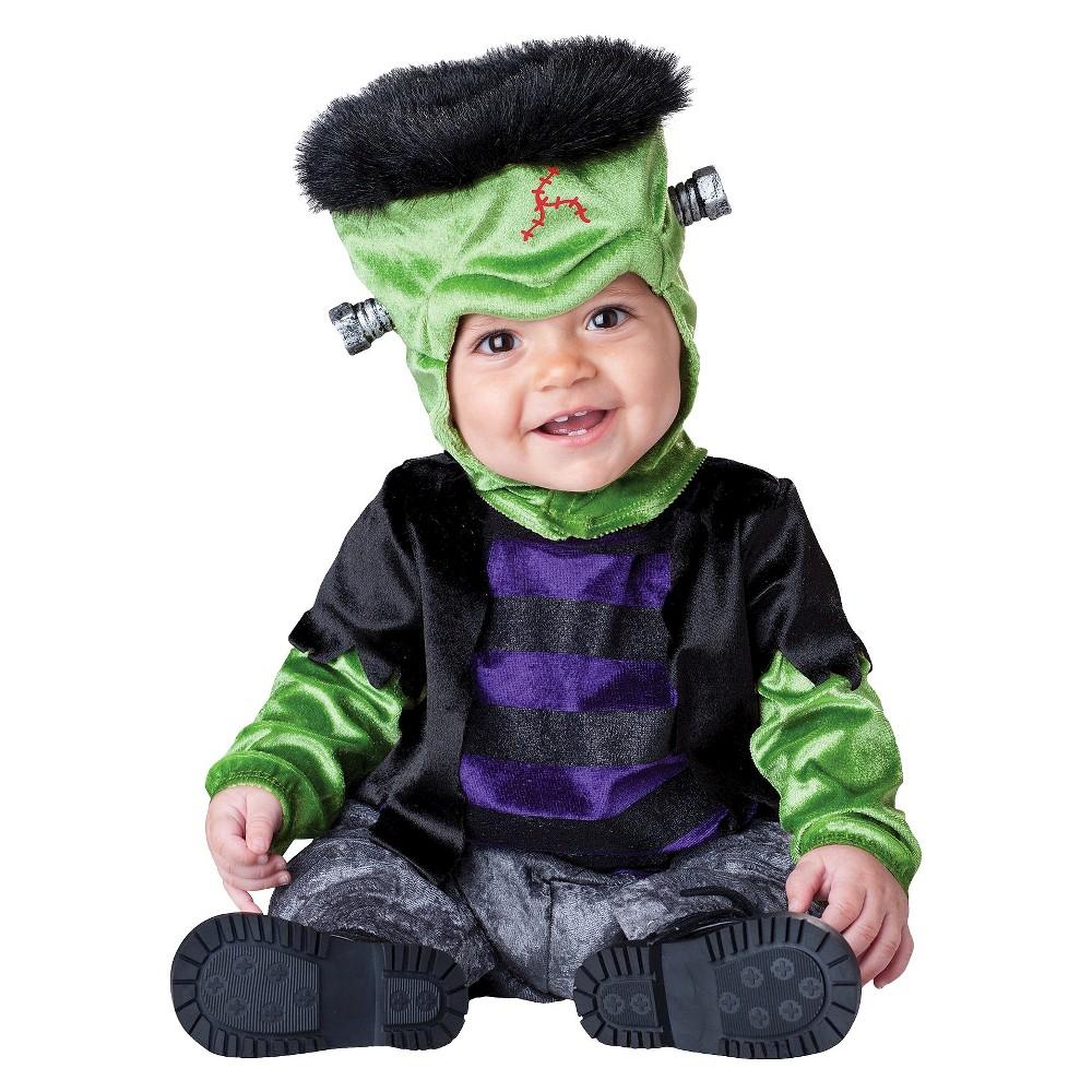 Baby Boo Frankenstein Costume 6-12 Months, Infant Unisex, Size: 6-12M, Green