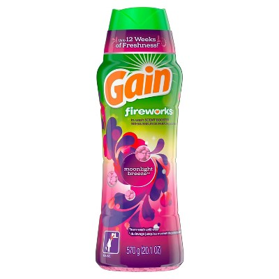 Gain Fireworks Moonlight Breeze In-Wash Scent Booster Beads - 20.1oz