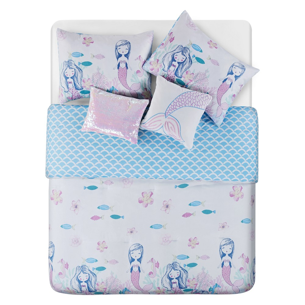 Mermaids Have More Fun Mulberry Comforter (Full) - 5pc - Vcny Home, Purple