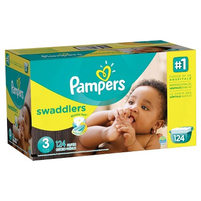 Pampers Swaddlers Diapers, Giant Pack - Size 3 (124 ct)