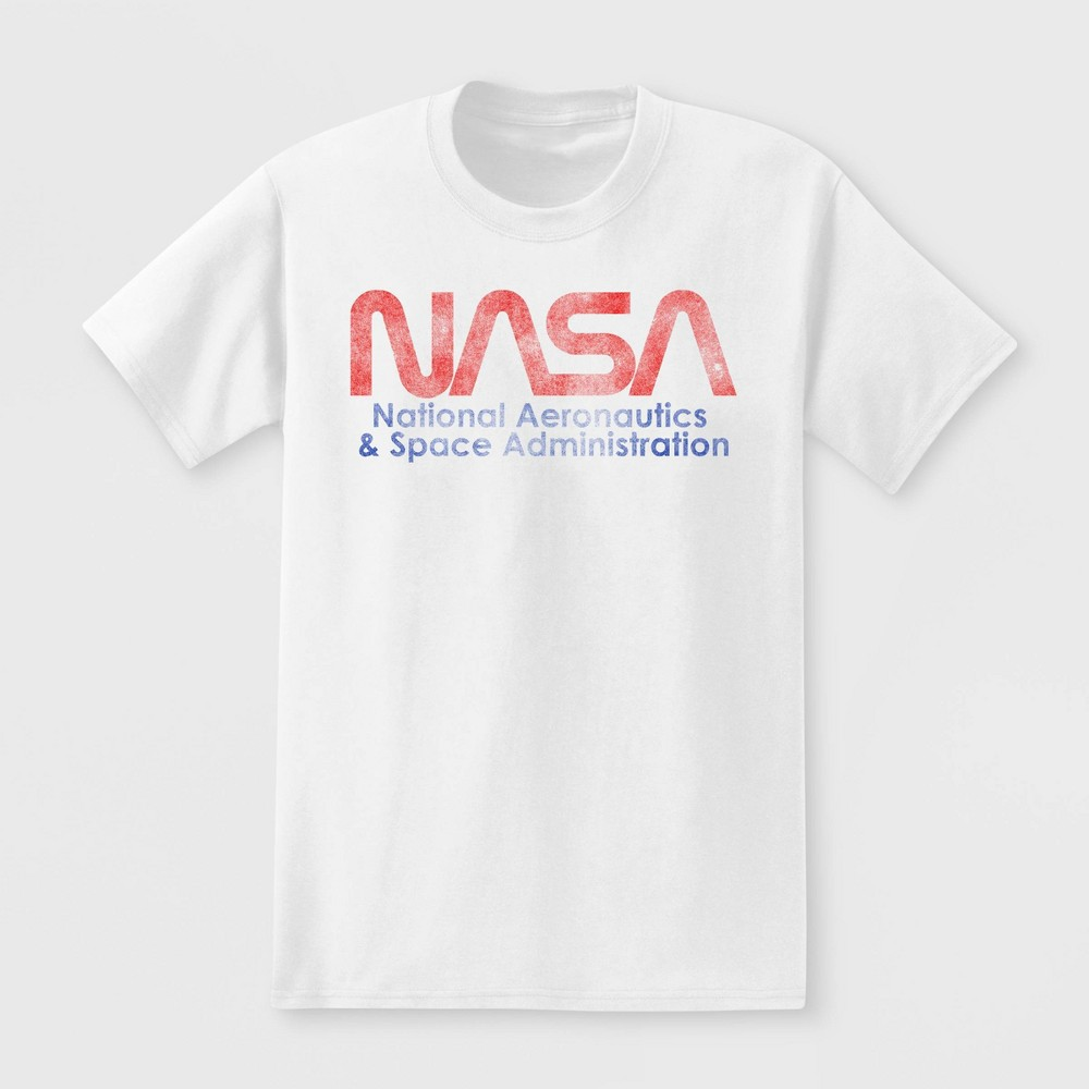 Image of petiteMen's NASA Short Sleeve Graphic T-Shirt White S, Size: Small
