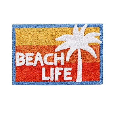 20  x 30  Paradise Beach Bath Rugs and Mats Red/Blue - Saturday Knight Ltd.