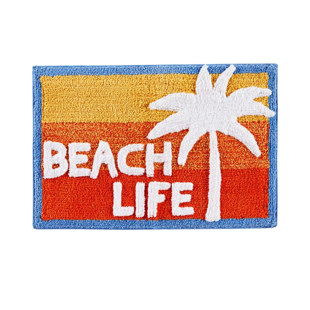 "Image of ""20"""" x 30"""" Paradise Beach Bath Rugs and Mats Red/Blue - Saturday Knight Ltd."""