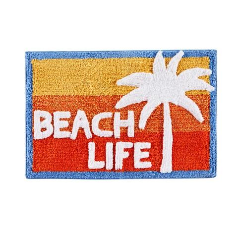 20 X 30 Paradise Beach Bath Rug Red, Beach Bathroom Rugs