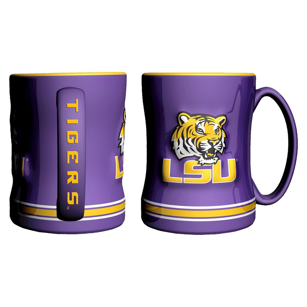 Lsu Tigers Boelter Brands 2 Pack Sculpted Relief Style Coffee Mug - Purple (15 oz), Multi-Colored
