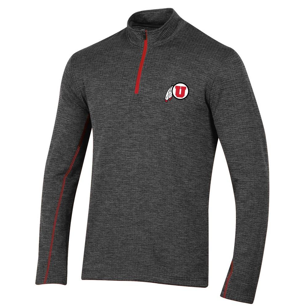 Utah Utes Men's Long Sleeve Digital Textured 1/4 Zip Fleece - Gray M