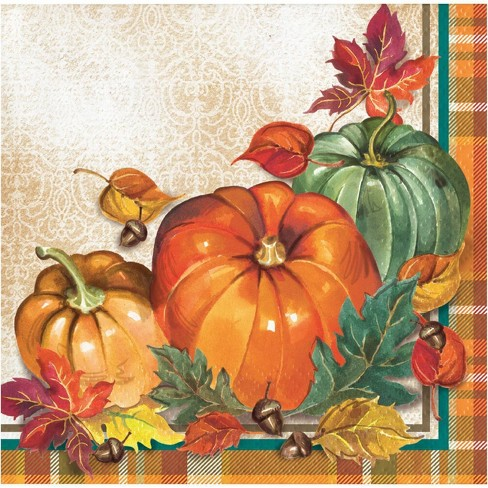 Traditional Thanksgiving Beverage Napkins - image 1 of 2