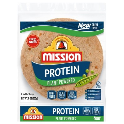 Mission Vegan Protein Plant Powered Tortillas - 9oz/8ct