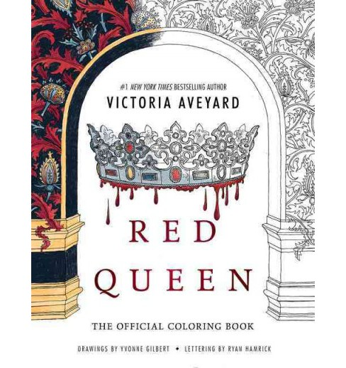 Red Queen Coloring Book Paperback Victoria Target