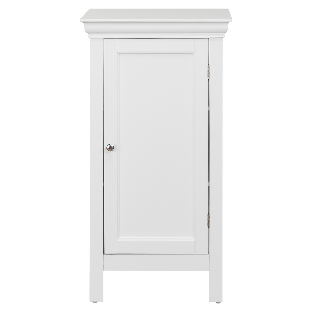 Image of Bourbon with One Contemporary Styled Door Bath Vanity Cabinet White - Elegant Home Fashions