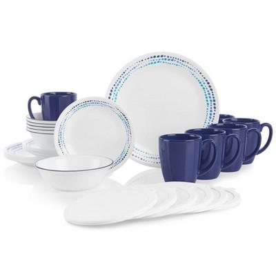Corelle 30pc Vitrelle Dinnerware Set Blue