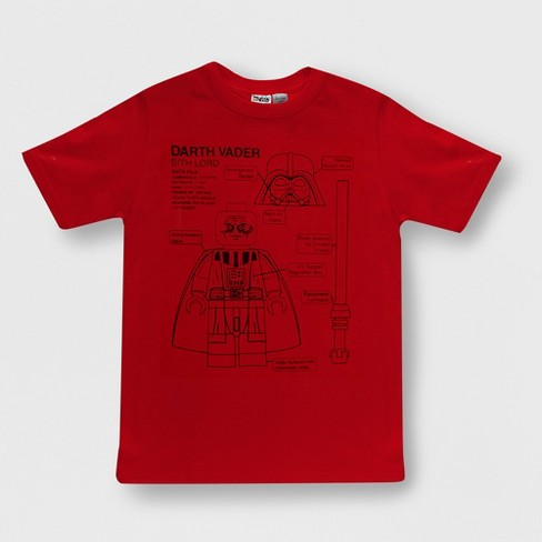 5a3600e9d Boys' LEGO Star Wars Short Sleeve Graphic T-Shirt - Red : Target