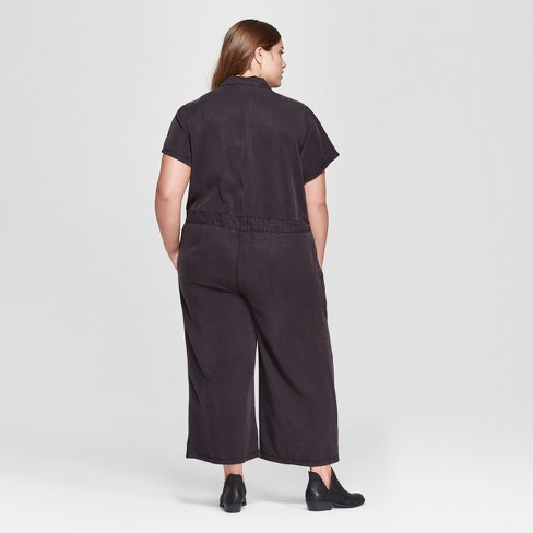 45e998da3fbe Women s Plus Size Short Sleeve Jumpsuit - Universal Thread™ Black 4X    Target