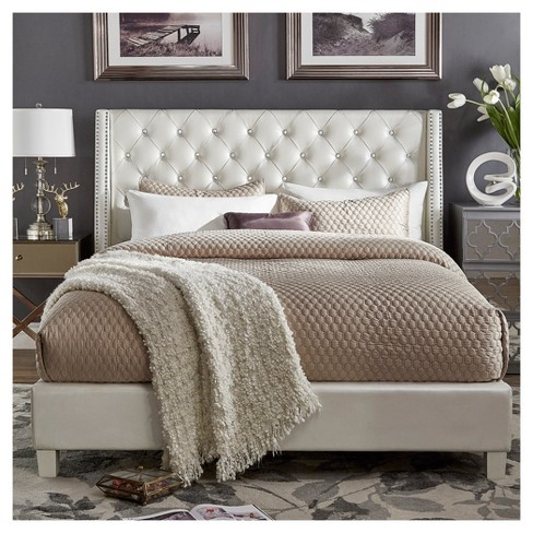 7475d24fd5bd Rosalyn Crystal Tufted Wingback Bed - Inspire Q®. Shop all Inspire Q. + 5  more. This item has 4 photos submitted from guests just like you!