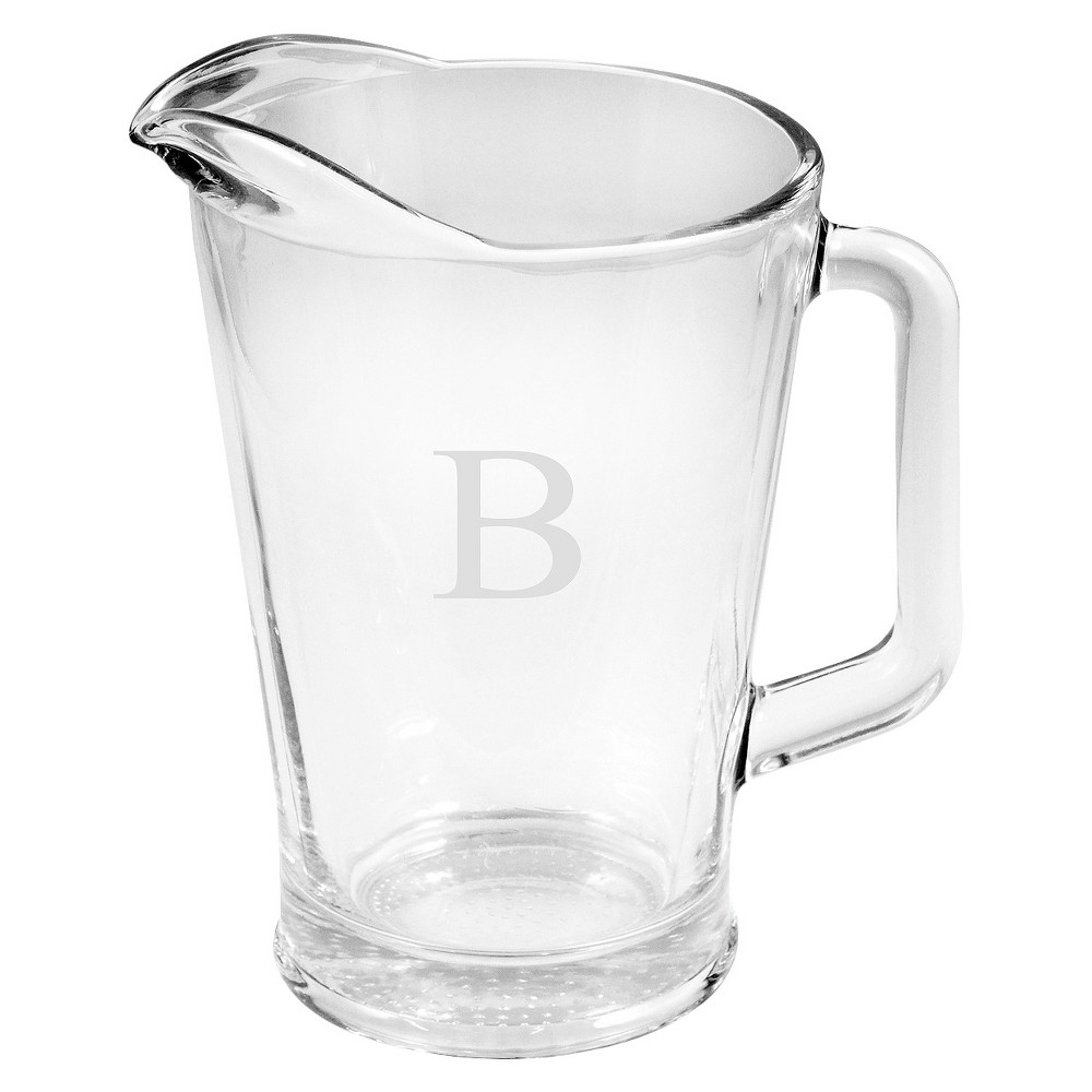 Cathy's Concepts Personalized Monogram Glass Pitcher - B, Clear