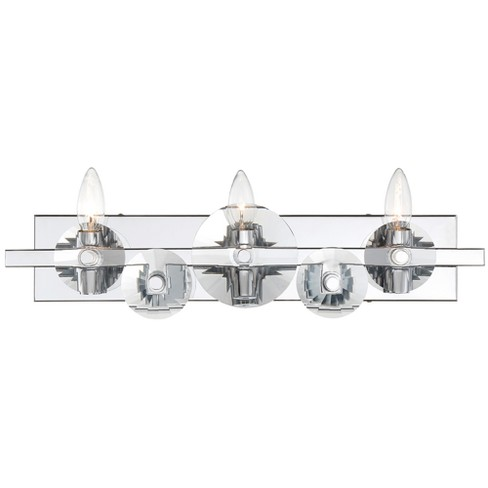 Engeared 3-Light Bath Fixture Chrome - Rogue Decor Co. - image 1 of 3