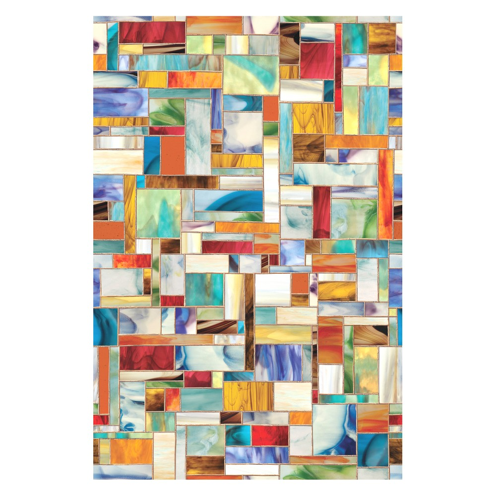 "Image of ""24""""x36"""" Montage Window Film - Artscape, Multi-Colored"""