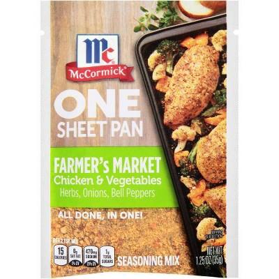 McCormick ONE Farmer's Market Chicken Sheetpan Seasoning Mix - 1.25oz