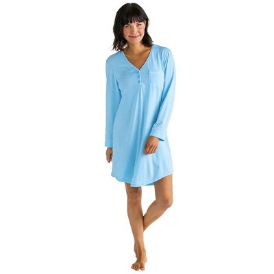 "Softies Women's 36"" Sleep Shirt with Contrast Piping"
