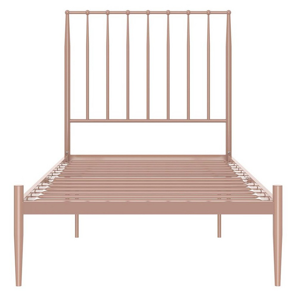 Image of Giulia Modern Metal Bed Millennial Pink Queen - Ameriwood Home