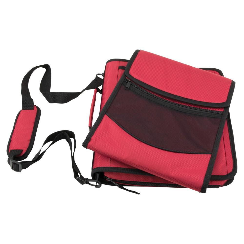 Pock-It Plus Ultimate Organizer 4 Zipper Binder Red