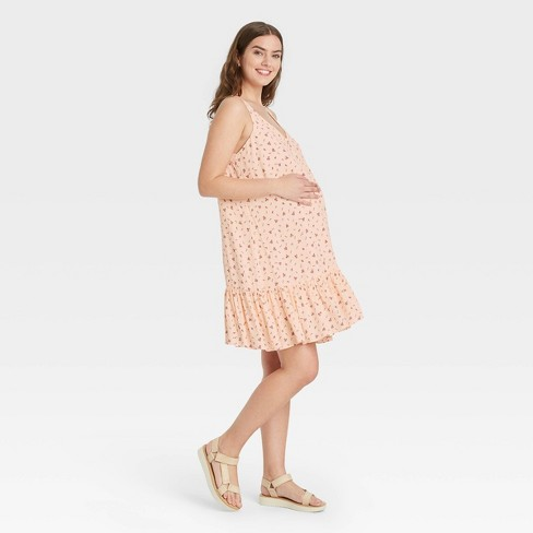 The Nines by HATCH™ Sleeveless Crepe Maternity Dress Floral Print - image 1 of 3