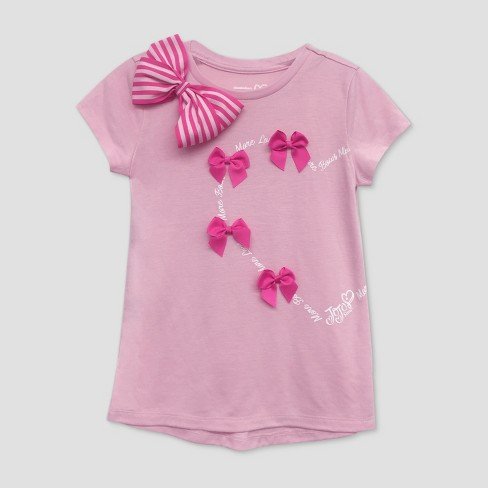 7863ebb8ea544 Girls  JoJo Siwa Valentines Day Short Sleeve T-Shirt - Pink   Target