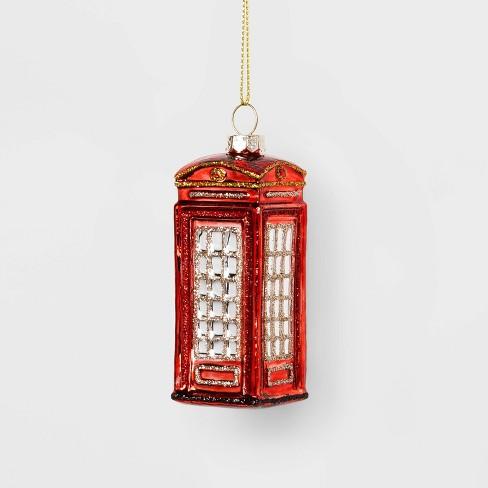 London Phone Booth Glass Christmas Ornament - Wondershop™ - image 1 of 2