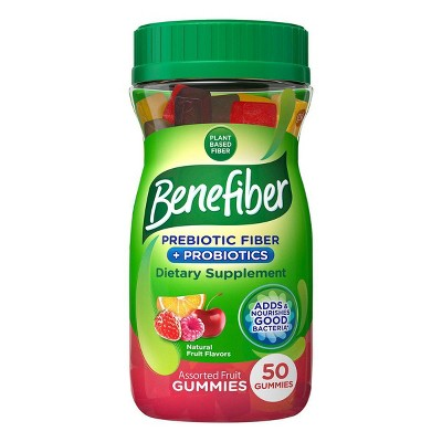 Benefiber Fiber+ Probiotic Gummies - 50ct