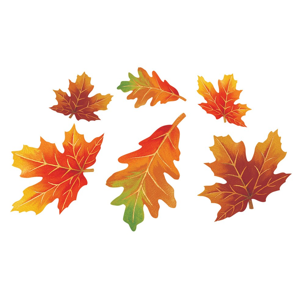 Image of 12ct Fall Leaf Cutouts