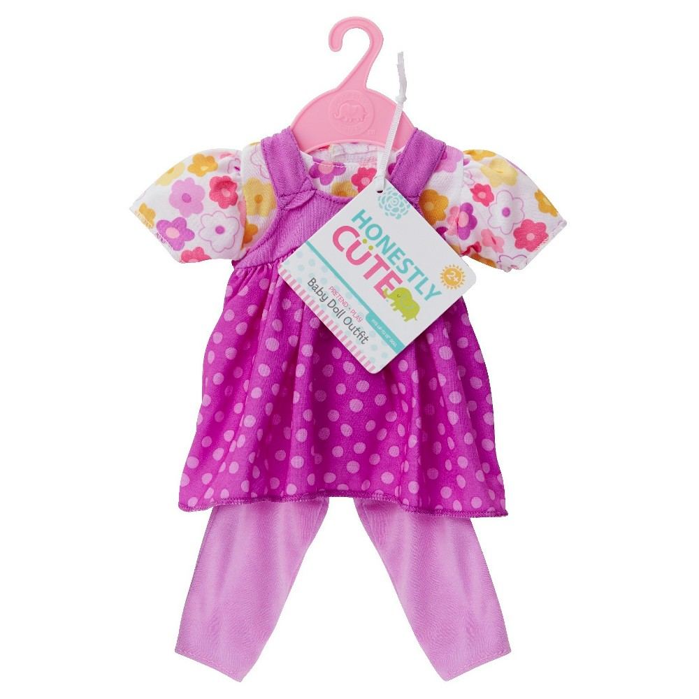Honestly Cute Baby Doll Flower/Purple Polka Dot 2 Piece D...