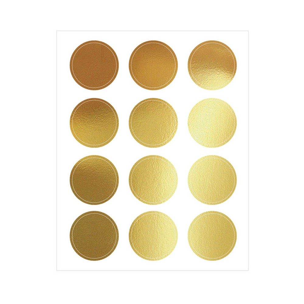 Image of 12ct Circles Stickers Gold - Spritz