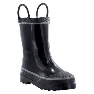 b6fb75860d1c Toddler Boy Firechief 2 Rain Boot Black - Western Chief