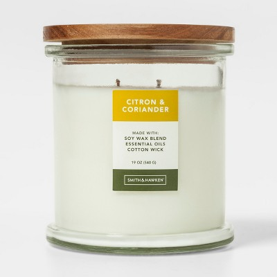 Large Lidded Glass Jar Candle Citron & Coriander - Smith & Hawken™