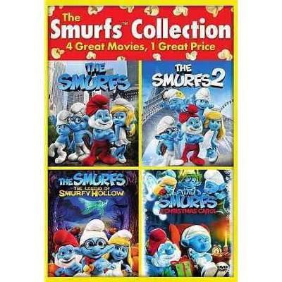 The Smurfs 2 / The Smurfs / The Smurfs: The Legend of Smurfy Hollow / The Smurfs Christmas Carol (DVD)(2015)