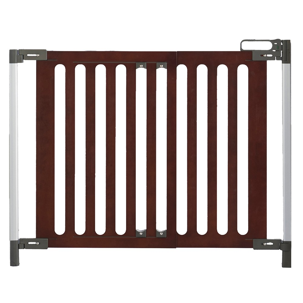 Qdos Spectrum Baby Safety Gate - Hardware Mount - Mahogany (Brown)