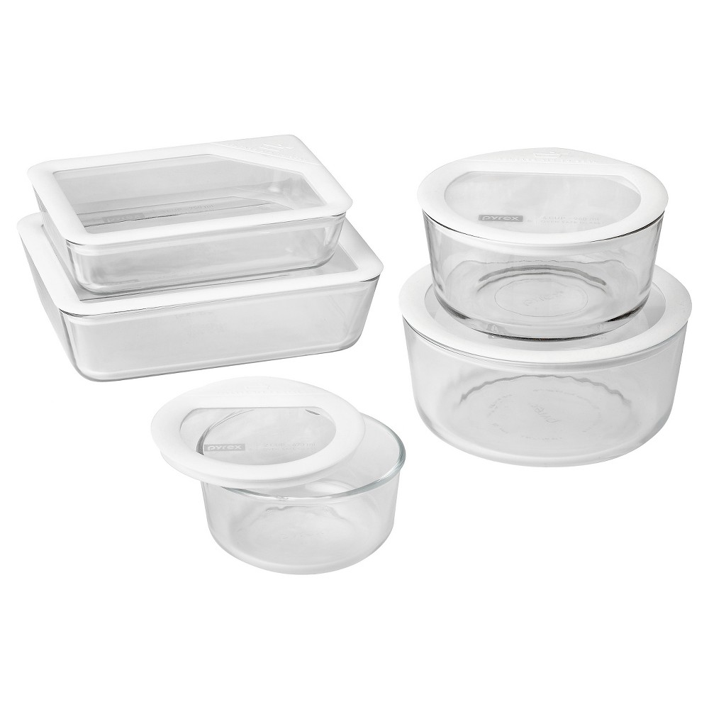 Image of Pyrex 10pc Ultimate Glass Lid Set White