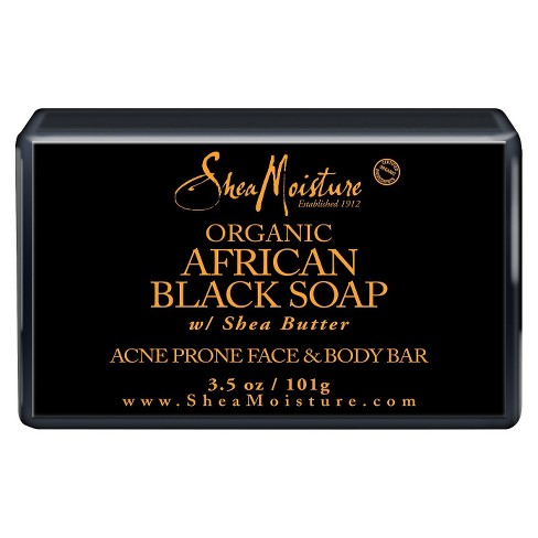 SheaMoisture African Black Soap Face & Body Bar - 3.5 oz - image 1 of 1