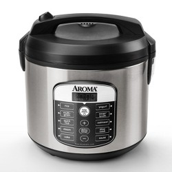 Aroma 20 Cup Digital Multicooker & Rice Cooker - Stainless Steel